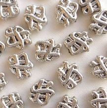"Silver Plated ""Pewter"" Beads 8 x 7mm Celtic Knot - 20"